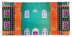 House Beach Sheet by Barbara Moignard