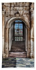 House Entrance Palermo  Beach Sheet by Patrick Boening