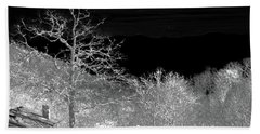 House In Winterland Beach Towel by Dennis Baswell