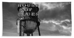 Beach Towel featuring the photograph House Of Blues B/w by Laura Fasulo
