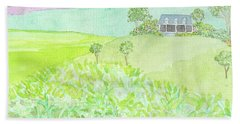 House On A Hill Beach Towel