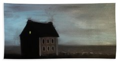 Beach Sheet featuring the painting House On The Praerie by Tone Aanderaa