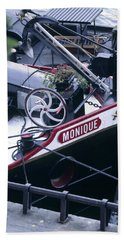 Houseboat In France Beach Towel