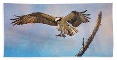 Housekeeping Osprey Art Beach Towel by Jai Johnson