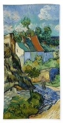 Beach Towel featuring the painting Houses In Auvers by Van Gogh