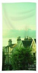 Houses Beach Sheet by Jill Battaglia