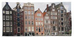 Houses Of Amsterdam Beach Towel by Therese Alcorn