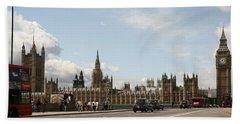 Houses Of Parliament.  Beach Towel