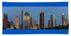 Houston Skyline Panorama Beach Sheet by Jonathan Davison