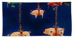 How Pigs Learn To Fly Beach Towel