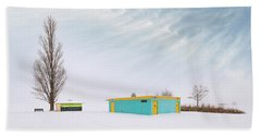 Beach Towel featuring the photograph How To Wear Bright Colors In The Winter by John Poon