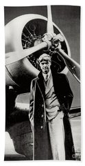 Howard Hughes - American Aviator  Beach Towel