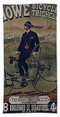 Howe Bicycles Tricycles Vintage Cycle Poster Beach Towel