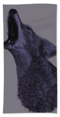 Beach Towel featuring the photograph Howling Coyote by Brian Cross