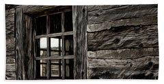 Beach Towel featuring the photograph Hudson Bay Fort Window by Brad Allen Fine Art