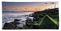 Hudson River And Verrazano-narrows Bridge Beach Towel