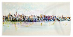 Hudson River View Beach Towel