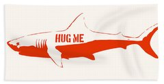 Hug Me Shark Beach Sheet by Pixel Chimp