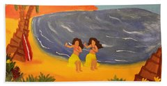 Hula Girls Beach Towel