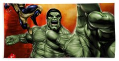 Hulk Beach Towel