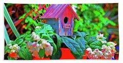 Humming Bird House Beach Towel