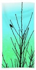 Hummingbird After Rain Beach Towel