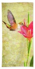 Hummingbird And Flower Beach Sheet