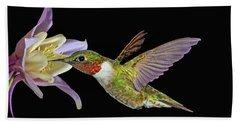 Hummingbird Art Beach Towel