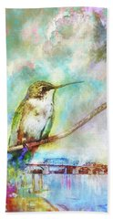 Hummingbird By The Chattanooga Riverfront Beach Towel