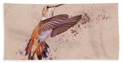 Hummingbird Color Splash I Beach Sheet