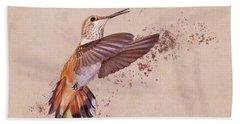 Hummingbird Color Splash I Beach Towel