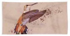 Hummingbird Color Splash I Beach Towel