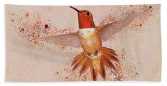 Hummingbird Color Splash II Beach Towel