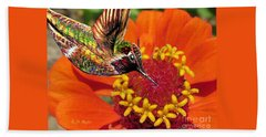 Hummingbird Delight Beach Towel