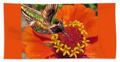 Hummingbird Delight Beach Sheet