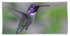 Hummingbird Flight Beach Sheet