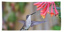 Hummingbird Happiness 2 Beach Sheet