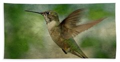 Hummingbird In Flight II Beach Sheet