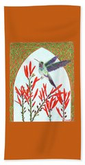 Hummingbird In Opening Beach Towel