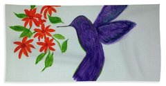 Hummingbird Joy Beach Towel