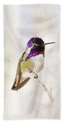 Beach Towel featuring the photograph Hummingbird Larger Background by Rebecca Margraf