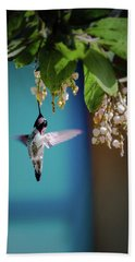 Hummingbird Moment Beach Sheet by Mark Dunton