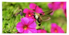 Beach Towel featuring the photograph Hummingbird Moth by Christina Rollo