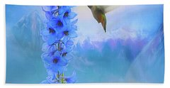 Hummingbird Mountains Beach Towel by Suzanne Handel