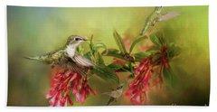 Hummingbird Paradise Beach Towel