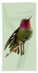 Hummingbird Portrait T1 Beach Sheet
