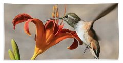 Hummingbird Whisper  Beach Sheet