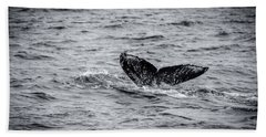 Humpback Whale Tail Beach Towel