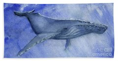 Humpback Yearling Under Our Boat Beach Towel by Randy Sprout