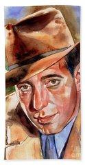 Humphrey Bogart Portrait Beach Towel